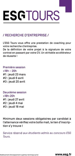 coaching alternance esg tours