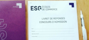 Aujourd'hui, j'ai passé mon concours à l'ESG…