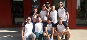 L'équipe de rugby de l'ESG Montpellier au Société Général Sevens